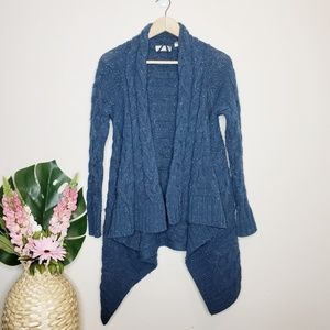Sleeping On Snow Wool Blend Cable Knit Cardigan